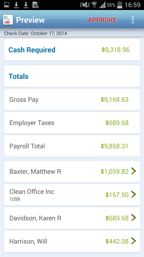 Payroll – RUN Powered by ADP- screenshot