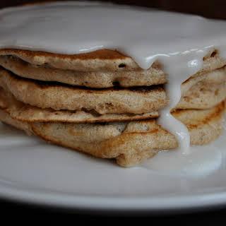 Whole Wheat Cinnamon Bun Pancakes.