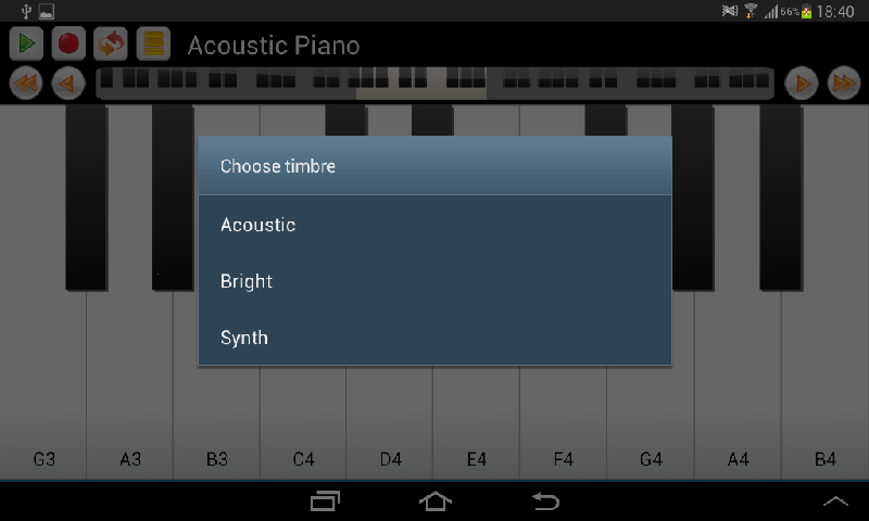 Real Piano and Keyboard- screenshot
