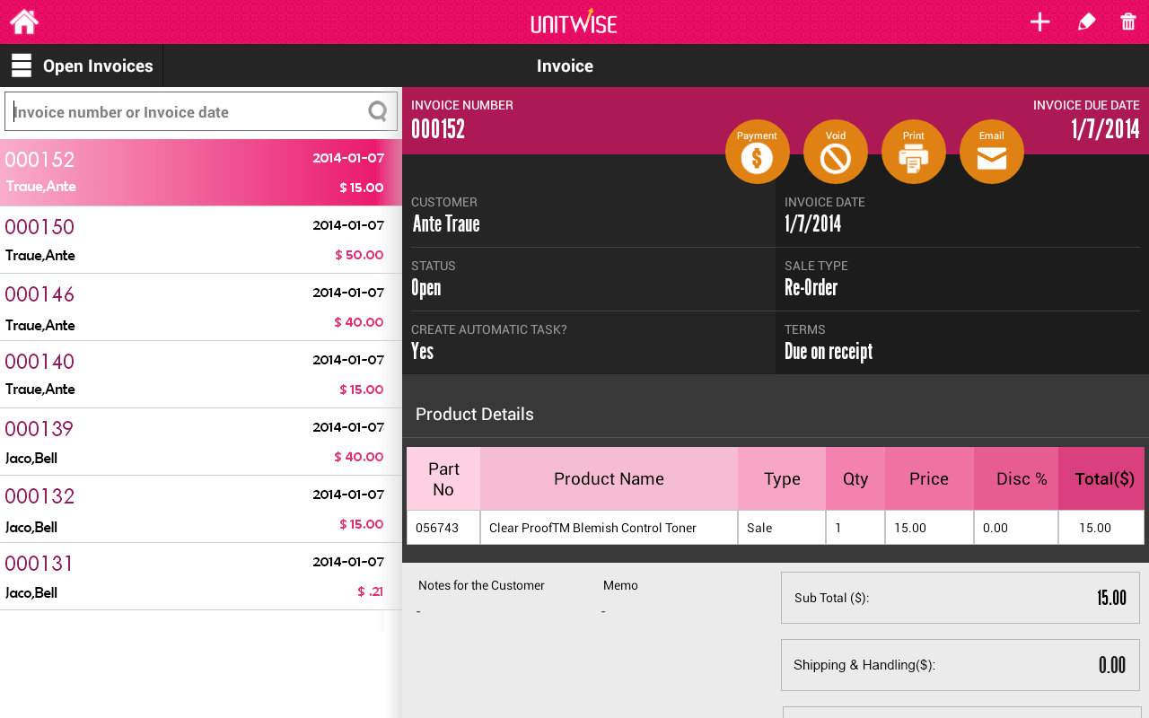 UnitWise:Mary Kay Business App- screenshot