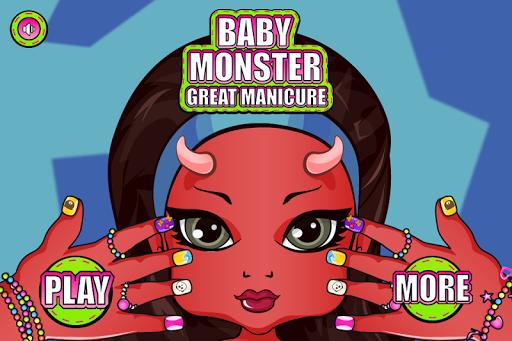 嬰兒怪物美甲