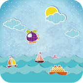 Cartoon Sailing Live Wallpaper