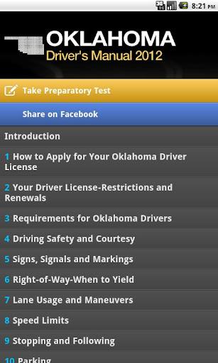 Oklahoma Driver's Manual