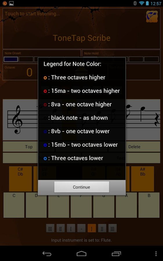 ToneTap Scribe - screenshot