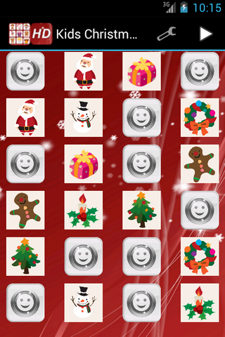 Kids Christmas Memory Game - screenshot