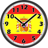 Spain Flag Analog Clock