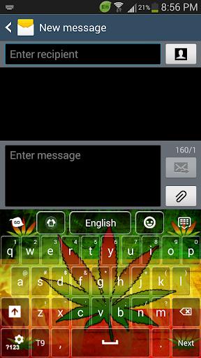 Rasta Weed Keyboard