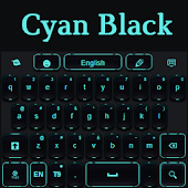 Black Cyan Keyboard
