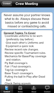 Baseball Umpire Pocket Ref - screenshot thumbnail