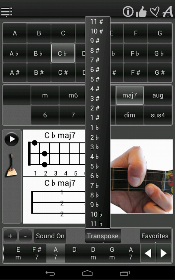 120 Balalaika Chords- screenshot