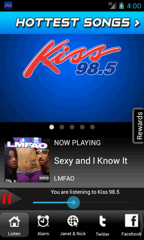 WKSE Kiss 98.5 - screenshot
