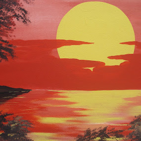The Sun by Shafiq Azli - Painting All Painting ( set, mural, light, sun, memory )
