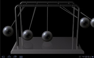 Screenshot of Newton's cradle