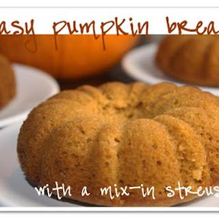 Pumpkin Bread with a Streusel Swirl