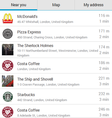 Food Near Me Restaurant Android App Screenshot