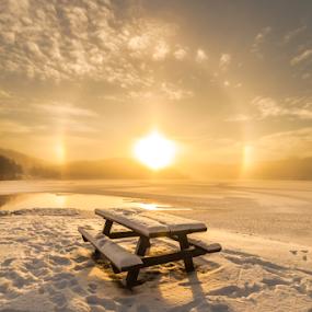 Sun Dog by Rose-marie Karlsen - Landscapes Sunsets & Sunrises ( winter, snow, sundog, sunrise, landscape, norway,  )