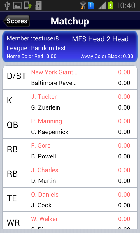 MFS Fantasy Football- screenshot
