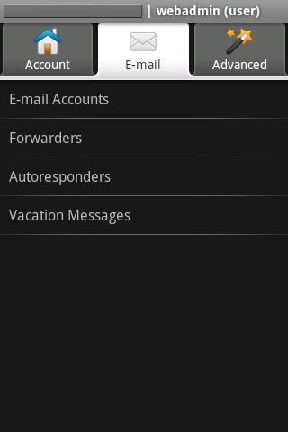 WebAdmin Mobile Lite - screenshot