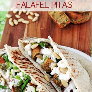 Chickpea Flour Falafel Pitas.