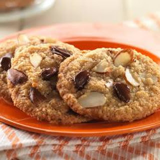 Double Almond Chocolate Chip Cookies (Gluten-free).