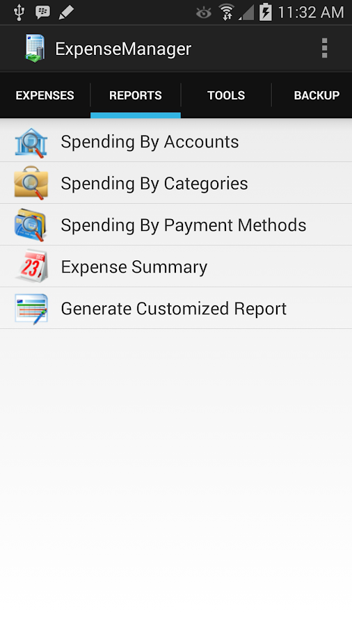ExpenseManager- screenshot