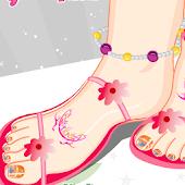 Fashion Foot Tattoo Manicure