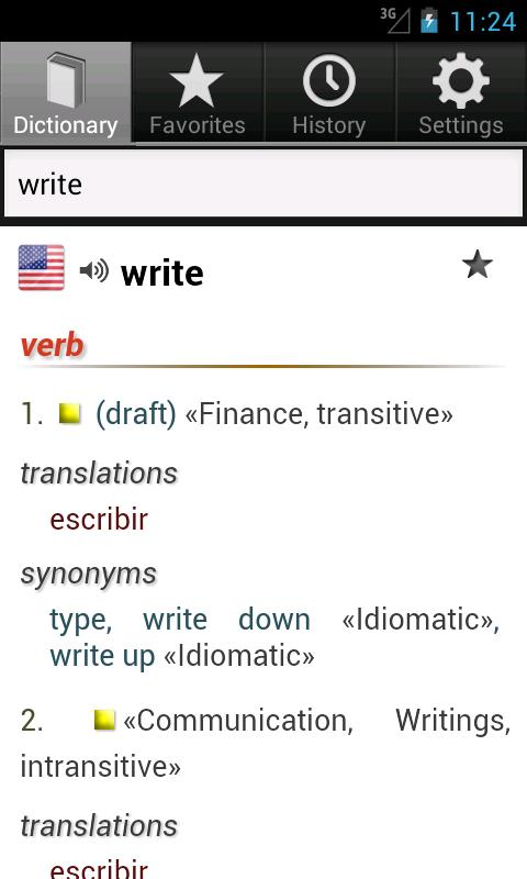 Free English Spanish Dict. - screenshot
