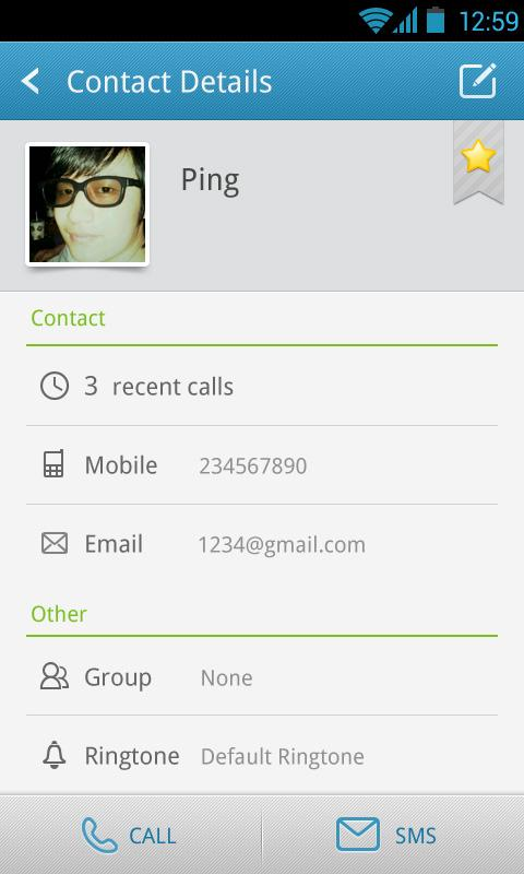 GO Contacts Pro - screenshot