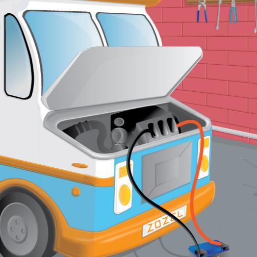 Ice cream car repair