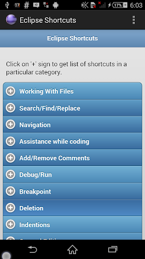 Eclipse Shortcuts