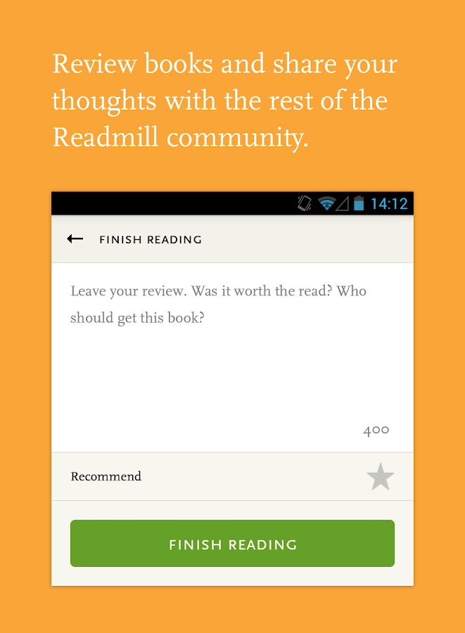 Readmill – ebook reader - screenshot