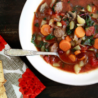 Winter Minestrone with Swiss Chard and Sausage