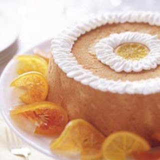 Brown Sugar Angel Food Cake with Candied Citrus Slices.