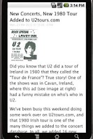 Screenshot of @U2