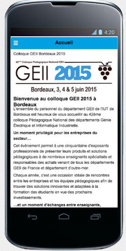 Colloque GEII 2015 Bordeaux