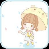 Dasom rain go launcher theme