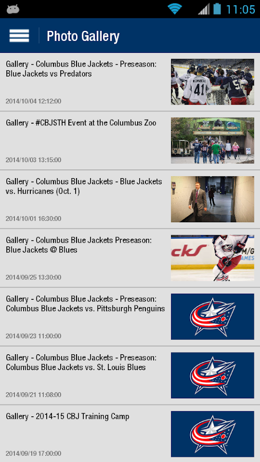 Columbus Blue Jackets- screenshot
