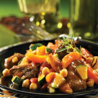 Cinnamon Lamb Tagine with Apricots.