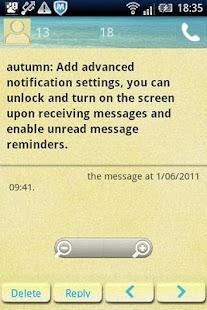 Easy SMS Beach theme screenshot