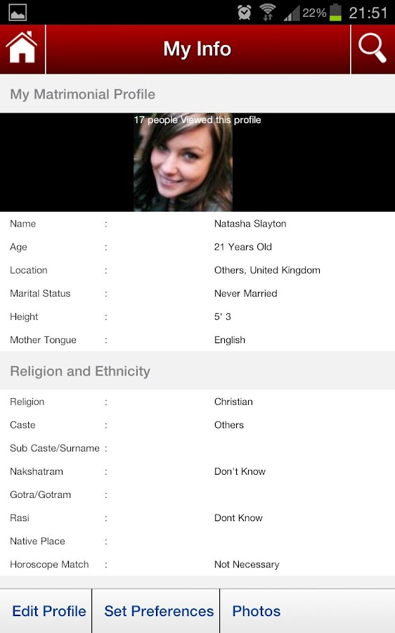 Matrimonial App - screenshot