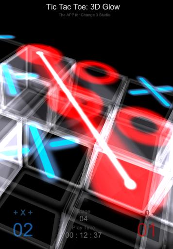 井字遊戲: 發光 3D 方塊