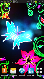 Butterfly Neon Animated LWP