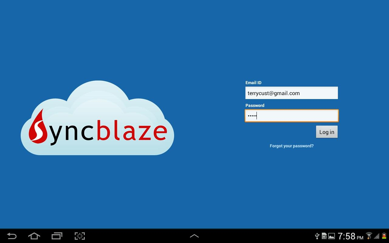 SyncBlaze Cloud - screenshot