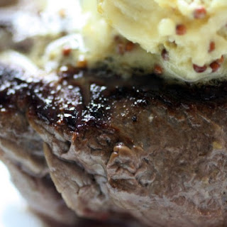 Filet Mignon with Mustard Butter