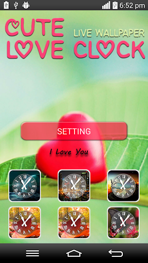 Cute Clock Love Live Wallpaper