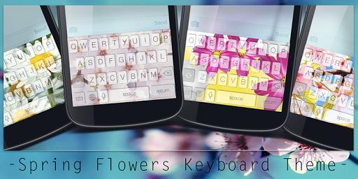 Spring Flowers Keyboard Theme