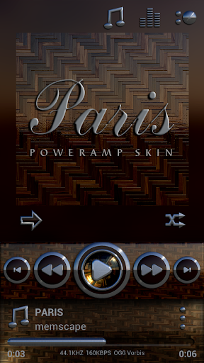Poweramp skin Paris