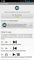 Screenshot of Tactile Player - Music Control