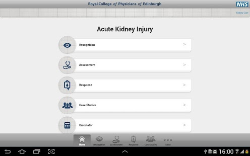 Acute Kidney Injury Tablet App- screenshot thumbnail