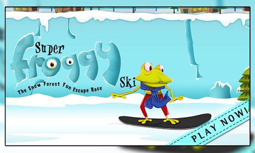 Super Froggy Ski : Snow Fun +